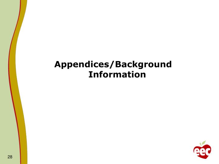 Appendices/Background Information