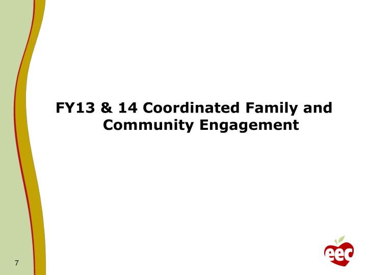 FY13 & 14 Coordinated Family and Community Engagement
