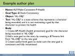 example author plan