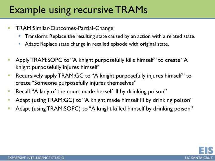 Example using recursive TRAMs