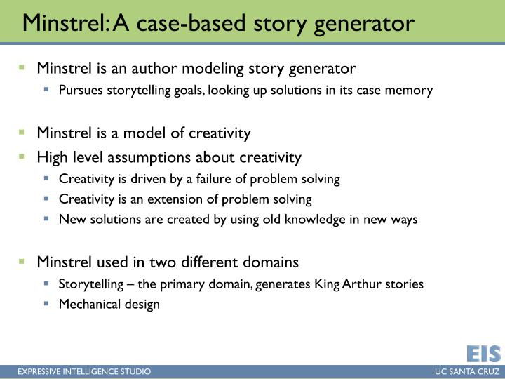 Minstrel: A case-based story generator