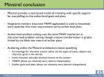 minstrel conclusion