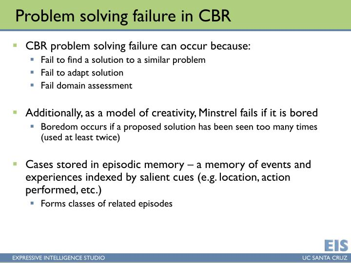 Problem solving failure in CBR