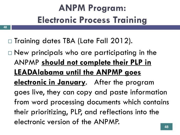 ANPM Program: