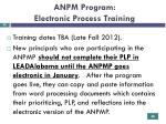 anpm program electronic process training