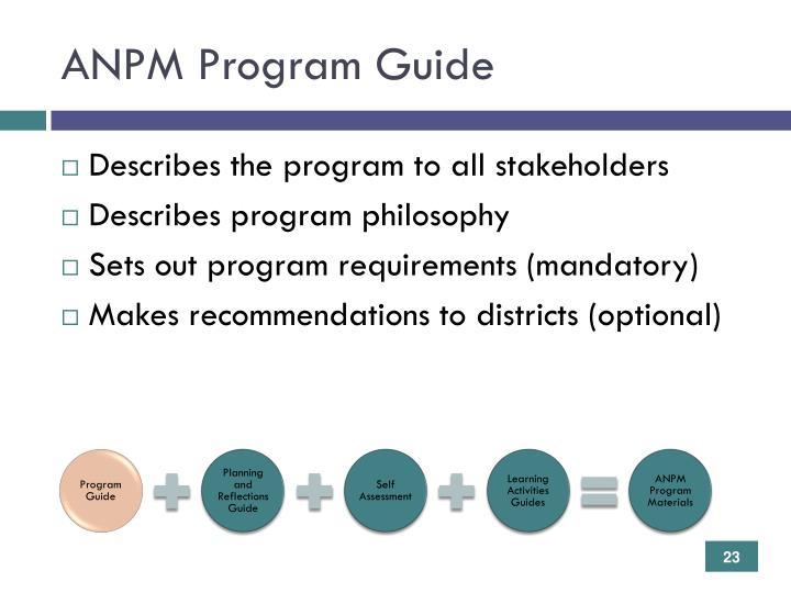ANPM Program Guide