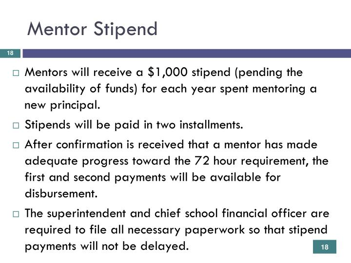 Mentor Stipend