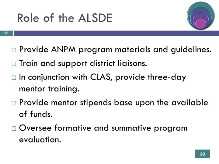 Role of the ALSDE