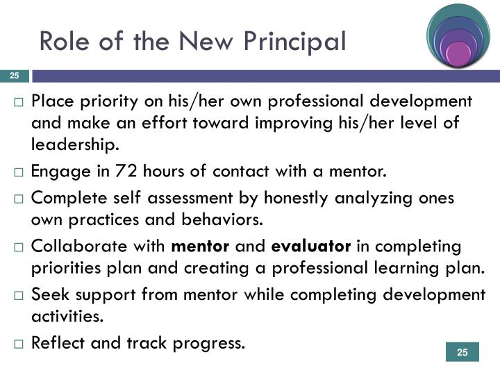 Role of the New Principal