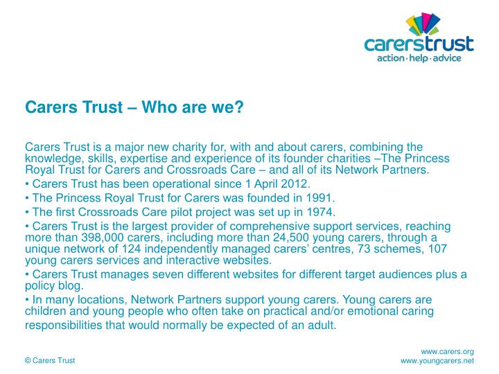 Carers trust who are we