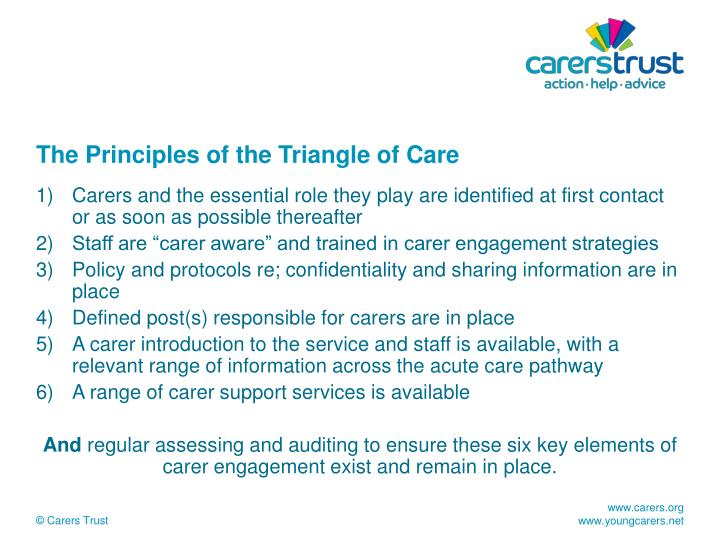 The Principles of the Triangle of Care