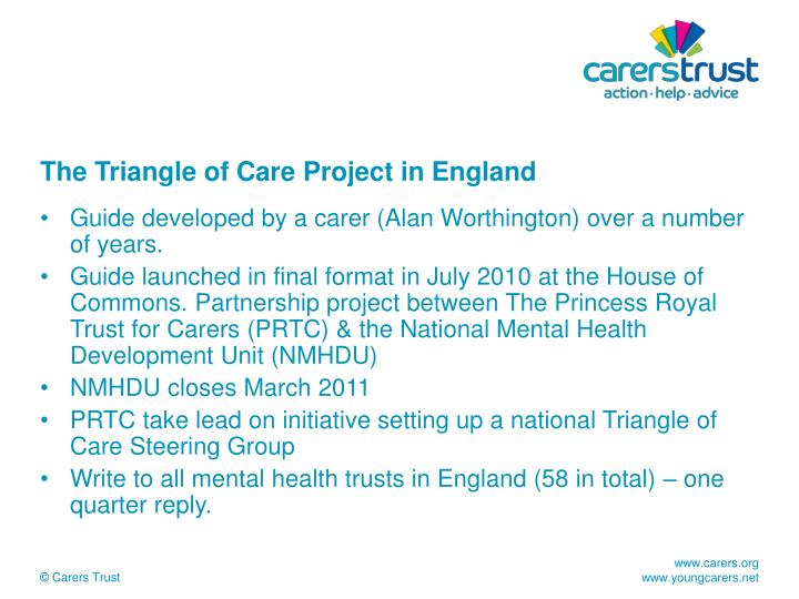 The Triangle of Care Project in England