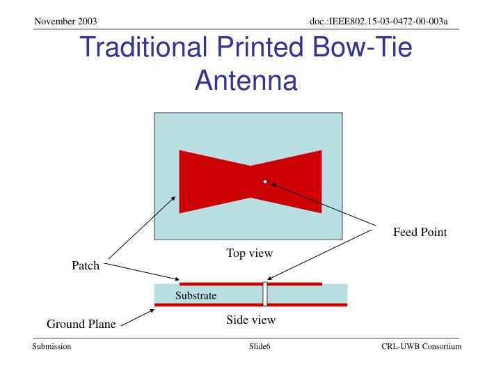 Traditional Printed Bow-Tie Antenna