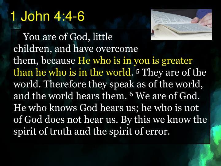 1 John 4:4-6