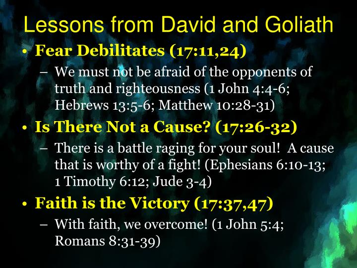 Lessons from David and Goliath