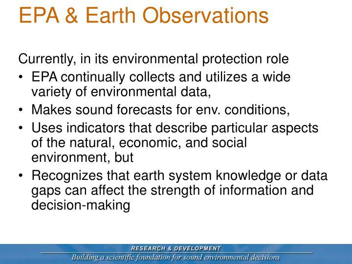 EPA & Earth Observations