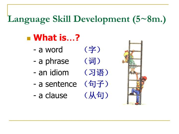 Language Skill Development (5~8m.)