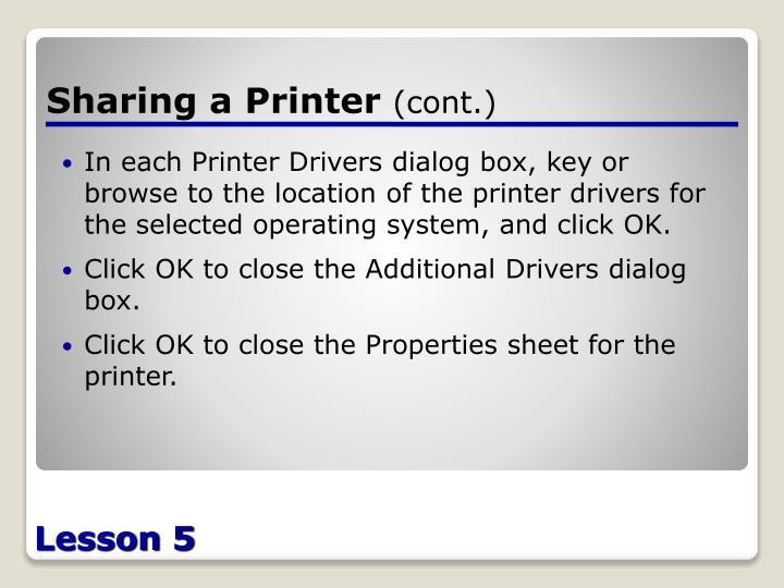 Sharing a Printer