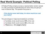 real world example political polling