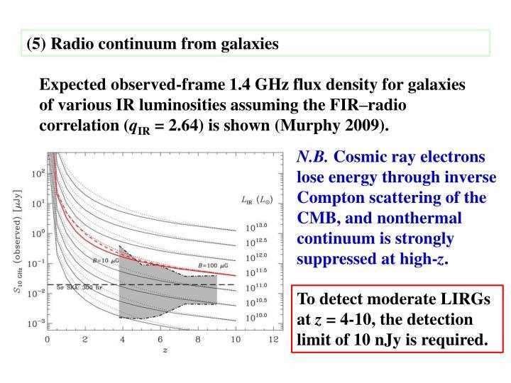 (5) Radio continuum from