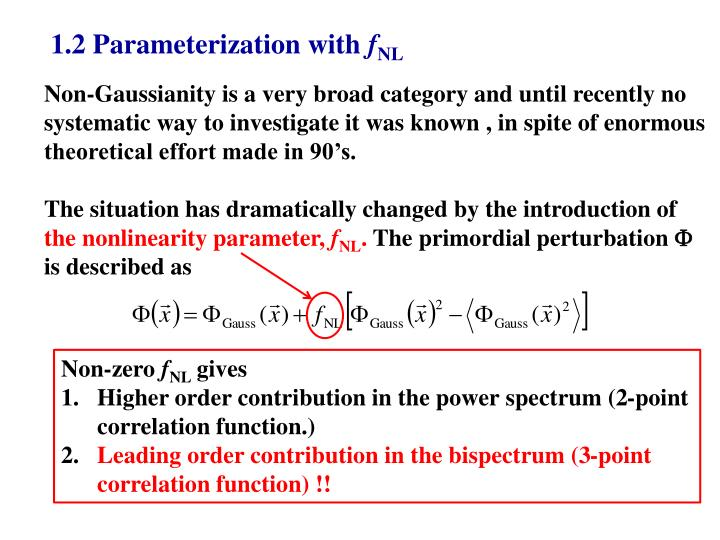1.2 Parameterization with