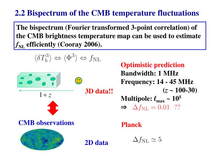 2.2 Bispectrum of the CMB temperature fluctuations