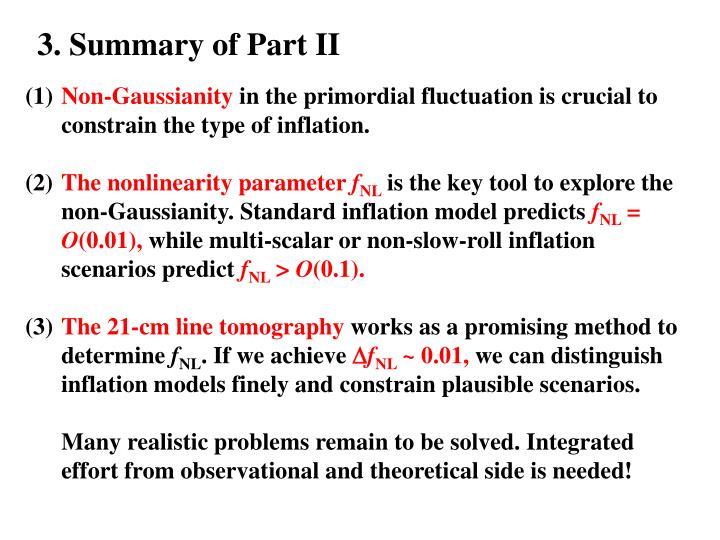 3. Summary of Part II