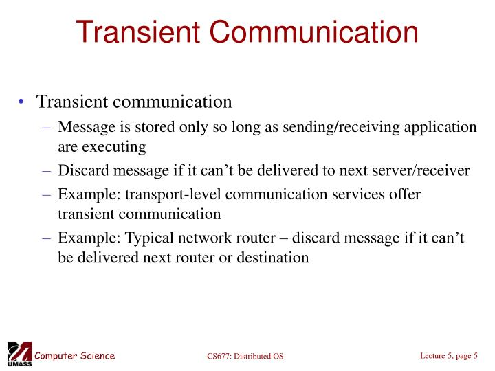 Transient Communication