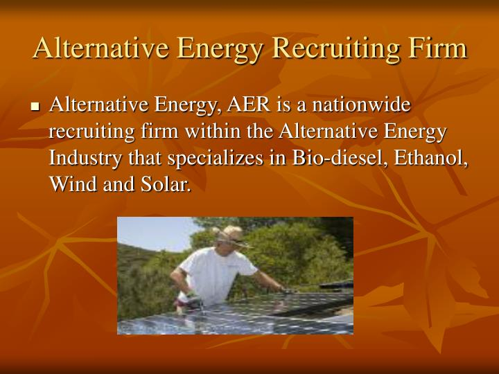 Alternative Energy Recruiting Firm