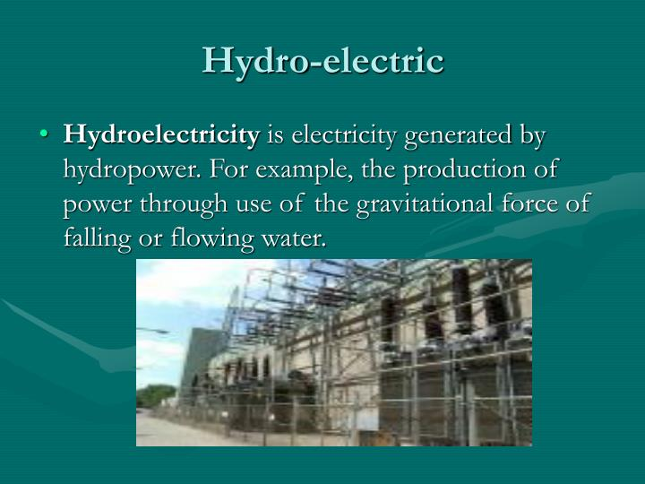 Hydro-electric