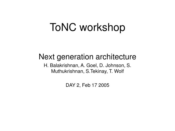 Tonc workshop