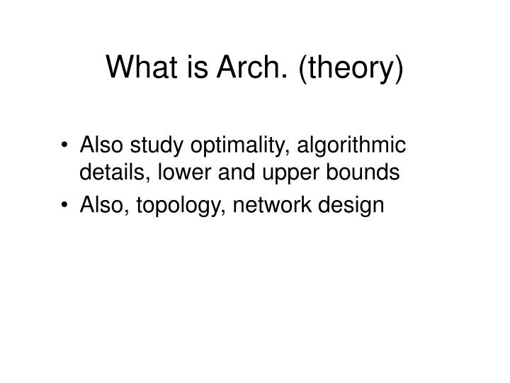 What is Arch. (theory)