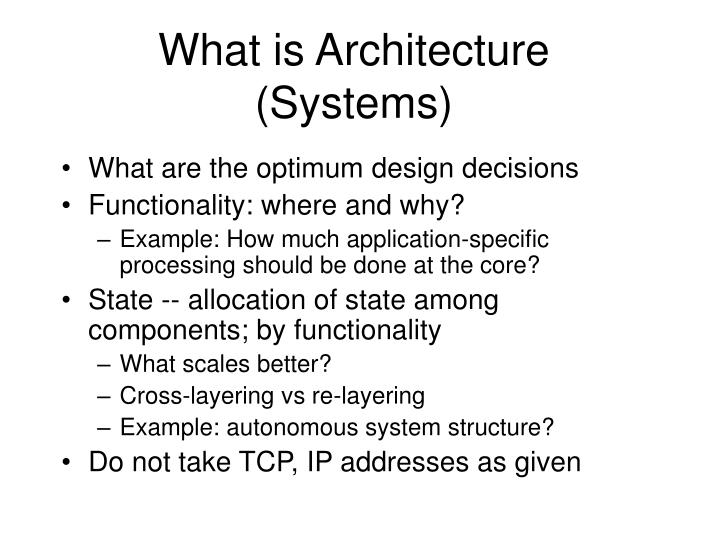 What is Architecture (Systems)