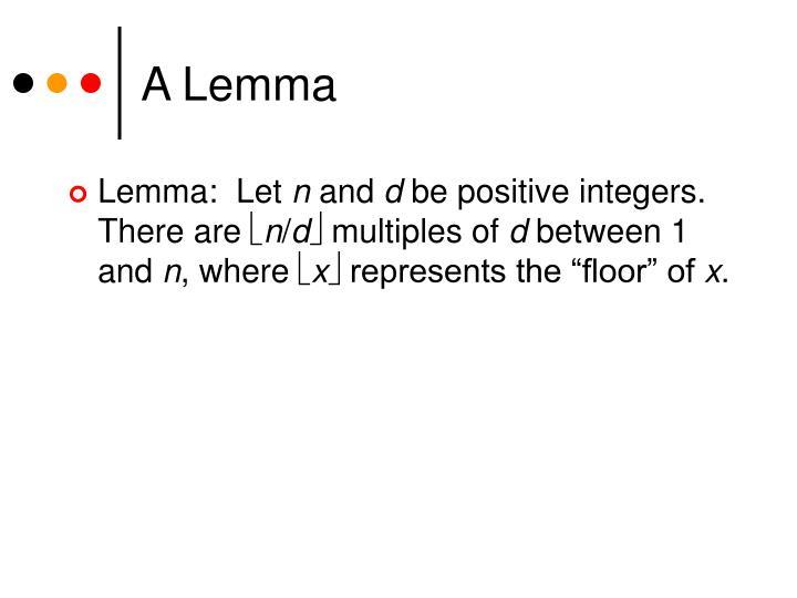 A Lemma