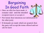 bargaining in good faith