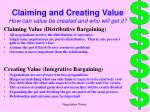 claiming and creating value how can value be created and who will get it