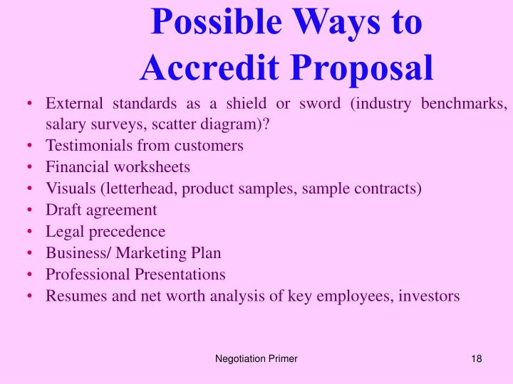 Possible Ways to Accredit Proposal