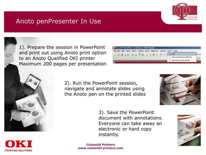 Anoto penPresenter In Use