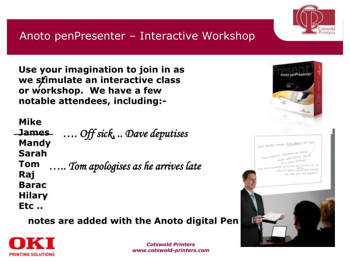 Anoto penpresenter interactive workshop1