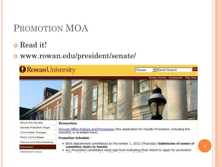 Promotion MOA