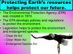 protecting earth s resources helps protect our future