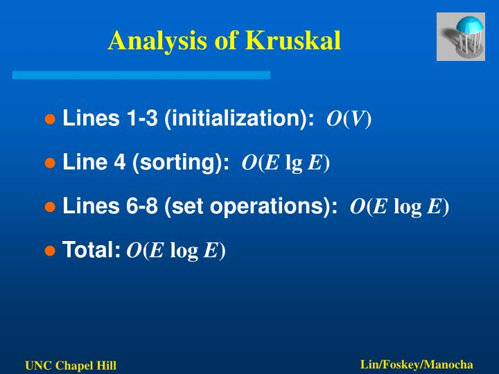 Analysis of Kruskal