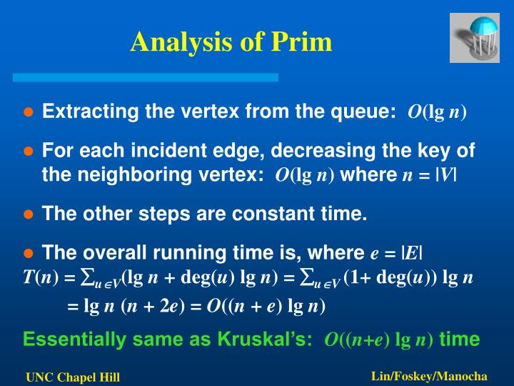 Analysis of Prim