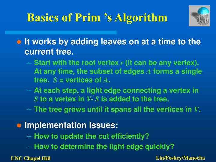 Basics of Prim 's Algorithm