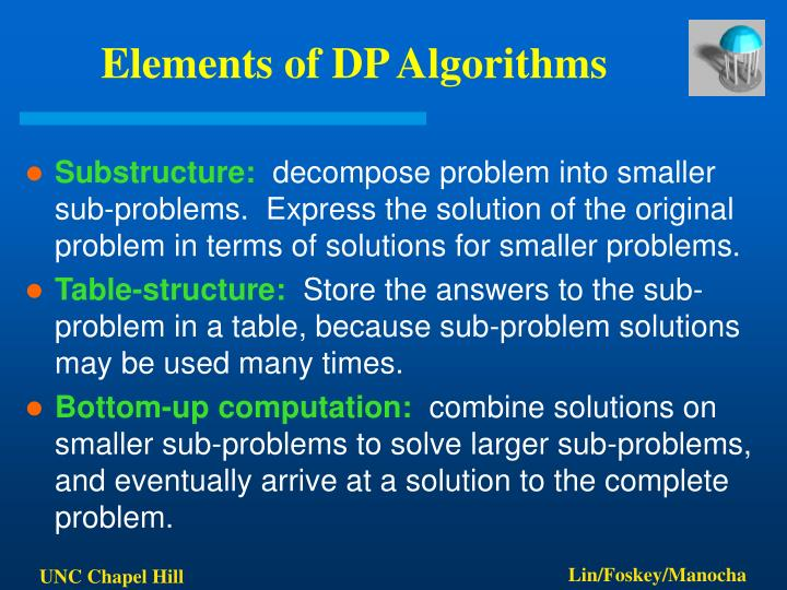 Elements of DP Algorithms