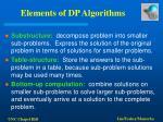 elements of dp algorithms