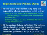 implementation priority queue