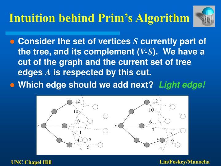 Intuition behind Prim's Algorithm