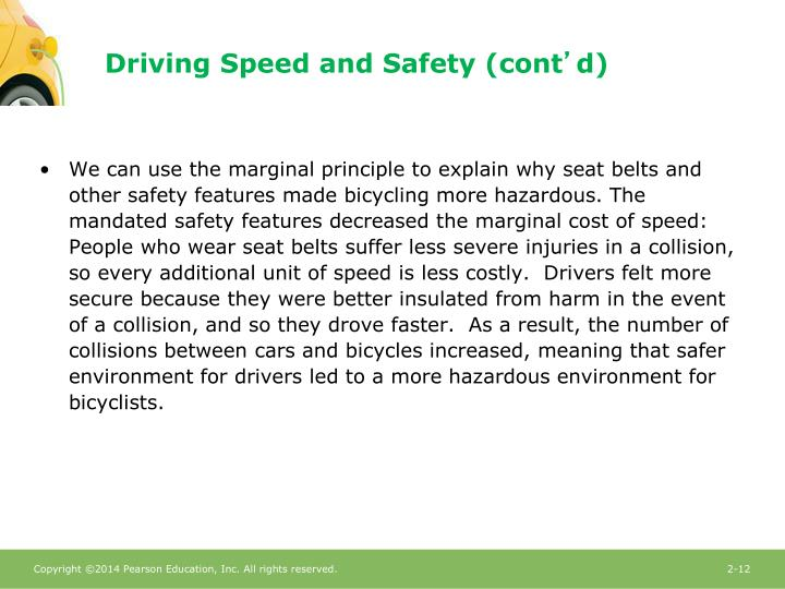 Driving Speed and Safety (cont