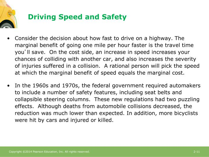 Driving Speed and Safety